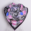 New Brand Black Silk Scarf Air Conditioning Shawls Scarves For Women 100% Mulberry Silk Twill Squre ScarvesFor Spring Autumn