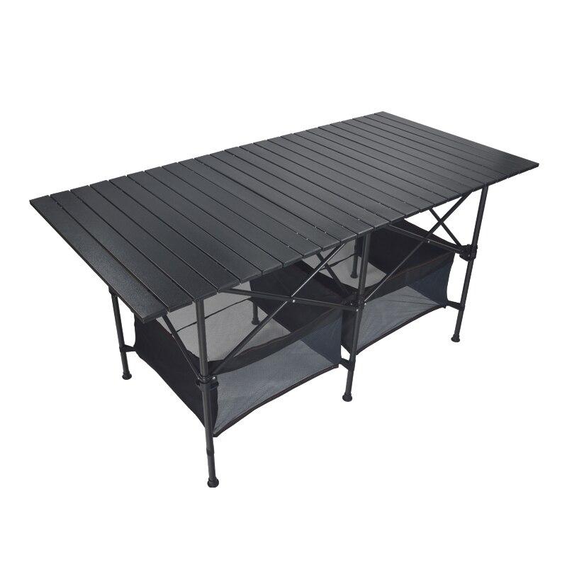 Простой бытовой обеденный стол Сверхлегкий Алюминий сплав Пикник стол открытый Портативный барбекю и кемпинга стол удобно останов стол