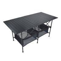 Simple Household Dining Table Ultralight Aluminum Alloy Picnic Desk Outdoor Portable BBQ and Camping Table Convenient Stall Desk