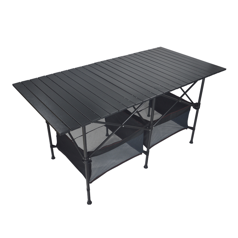 Simple Ménage À Manger Table En Aluminium Ultra-Léger Alliage Bureau de Pique-Nique En Plein Air Portable BARBECUE et Table De Camping Pratique Décrochage Bureau