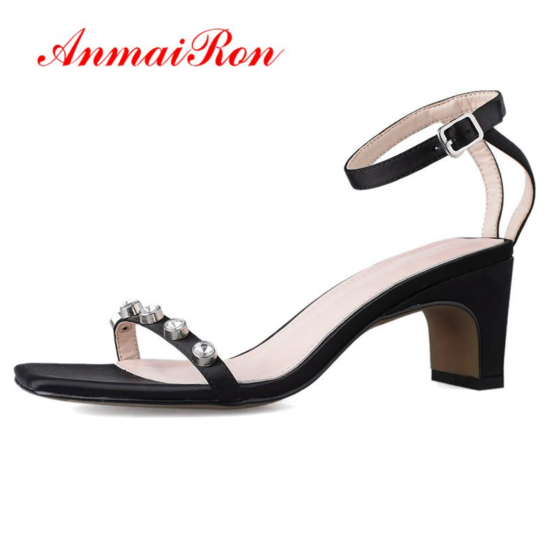 ANMAIRON  Basic  Casual  Buckle Strap  Women Sandals Summer 2019 High Heel Strange Style  Sandals Women Size 34-39 LY1363ANMAIRON  Basic  Casual  Buckle Strap  Women Sandals Summer 2019 High Heel Strange Style  Sandals Women Size 34-39 LY1363