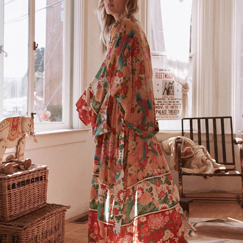 ALI shop ...  ... 32996161798 ... 5 ... High quality Summer tops Women Chiffon Shawl Kimono Cardigan Top Belt Cover Up Blouse Beachwear Sheer Tops d90403 ...