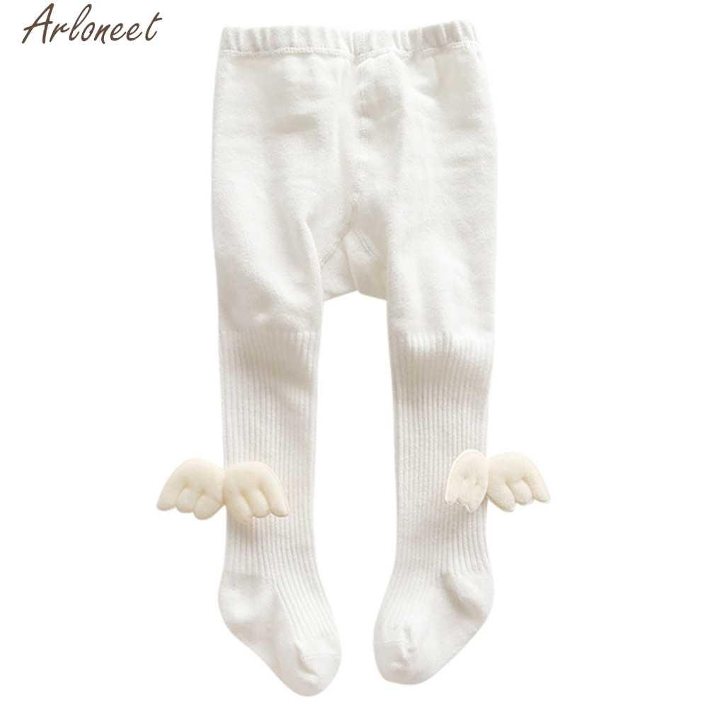 Arloneet Pasgeboren Meisjes Kousen Elastische Gestreepte Engelenvleugels Panty Panty Voor Meisjes Baby Meisje Panty Winter Kousen Meisje