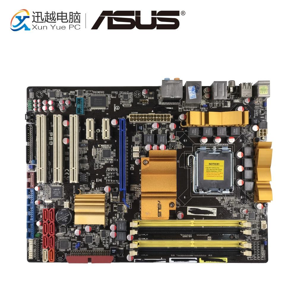 Asus P5Q Desktop Motherboard P45 Socket LGA 775 DDR2 16G SATA2 USB2.0 ATX цена 2017
