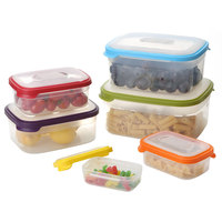 6 PCS Kitchen Seal Insurance Storage Box Food Storage Container Lunch Box Leakproof Plastic Bento Crisper Grains Sorting Box