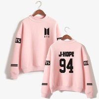 BTS Love Yourself Kpop Capless Sweatshirts Bangtan Boy Outwear Hip Hop Women And Men Turtleneck Fashion