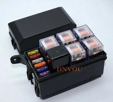 free shipping auto fuse box 6 relay relay holder 5 road. Black Bedroom Furniture Sets. Home Design Ideas