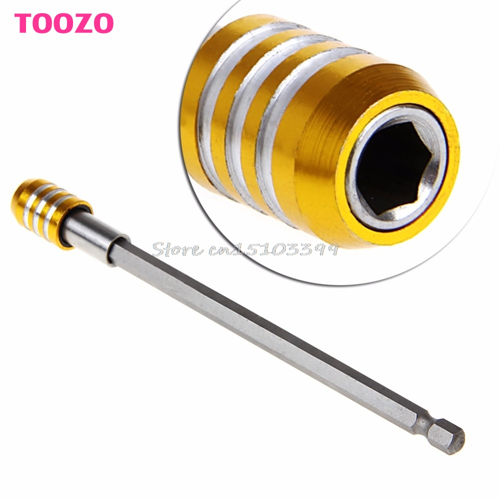 150mm 1/4 Magnetic Hex Shank Quick Release Drill Bit Screwdriver Screw Holder Drop shipping #G205M# Best Quality flex flexible bendable extended magnetic shaft screwdriver bit holder 1 4 hex drive drill bit extension rod with keyless chuck