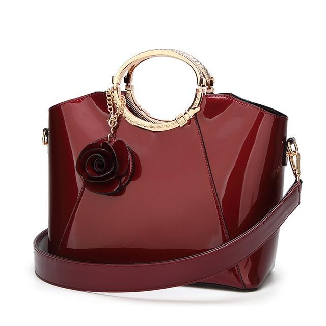 Luxury sac Patent Leather Handbags Women Bags Brand Designer Tote Bag  Ladies Handbags Vintage Female Shoulder