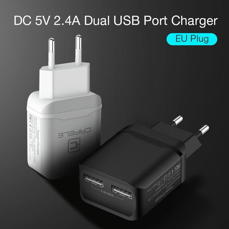 CAFELE Travel USB UE Ładowarka Wtyczka 2.4A Podwójne wyjście - Części i akcesoria do telefonów komórkowych i smartfonów - Zdjęcie 3