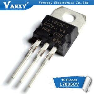 10 قطعة L7805CV TO220 L7805 إلى 220 7805 LM7805 MC7805 جديدة ومبتكرة IC