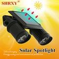Shrxy Solar Light 14LEDs LED Solar Lamp PIR Motion Sensor Dual Head Spotlight Waterproof  Wall Light for Yard Garden Driveway