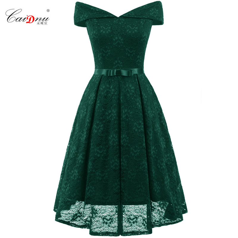 Keatingberus Women 39 s Dress Sexy Lace Dress Word Collar Women 39 s Summer Classic Long dress Party Party Queen Vestido 0708 in Dresses from Women 39 s Clothing