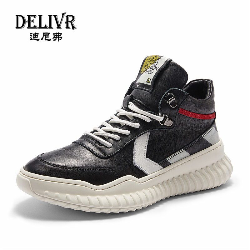 Delivr Genuine Leather Boots Men Vintage Martins Boot Man Shoes England Luxury Brand Formal Fashion Spring Men Shoes Sneakers