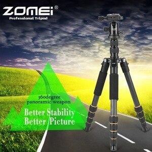 Image 2 - Professional Q666C portable travel carbon fiber tripod Monopod&Ball head for DSLR SLR digital camera