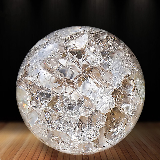 Crystal Glass 50mm Marbles Feng Shui Home Decorative Ice