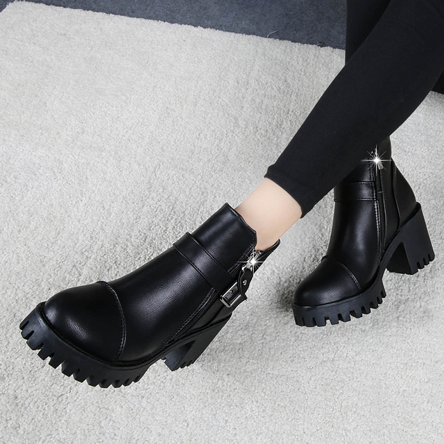 High Heels Ankle Boots Women Fashion Ladies Pumps Sexy Shoes Woman Size 35-39 4