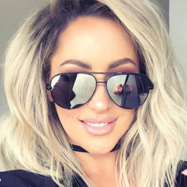 18821b4680b3 Good Quality Flat lens famous italy Brand Pilot Mirror Designer Sunglasses  Women or Men Sun glasses