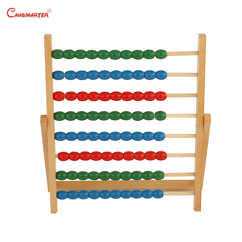 Wooden Colorful Beads Soroban Abacus Math Toys Calculation Children Educational Numbers Training Montessori Materials MA035 3