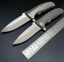 New Incoming EDC Tools Good designed Original ceramic ball bearing Flipper folding knife Maker 1,VG-10 Steel TC4 Titanium handle