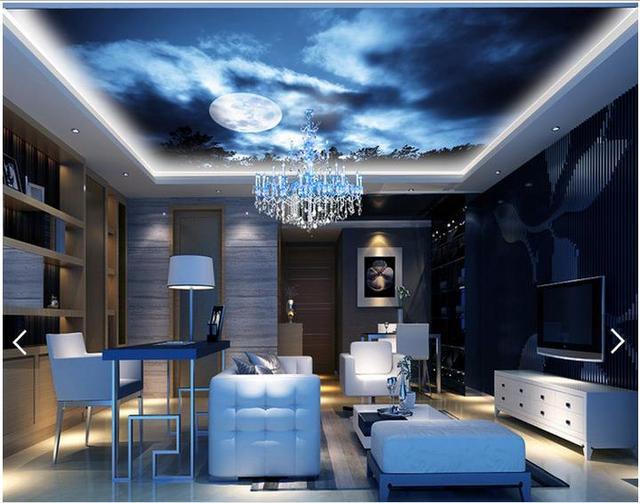 3d fototapete benutzerdefinierte 3d decke tapete wandmalereien ... - Wohnzimmer Decken Design