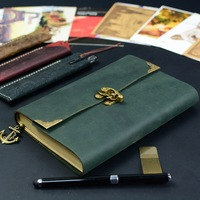 2017 Brand New 100 Genuine Leather Vintage Diary Memory Book Handmade Paper Folder Planner Business Notebook