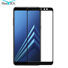 WeeYRN For Samsung Galaxy A8 2018 A530 Full Protective Glass Tempered Glass Screen Protector for Samsung A8 Plus 2018 A730 protective glass red line for samsung galaxy a8 plus 2018 a730 full screen black