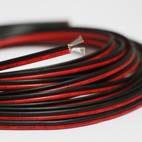 20m /lot 2468 22awg 2 pin tinned oxygen free copper red black PVC  insulated wire cable 22 awg stranded wire LED electronic wire|Wires & Cables| |  -