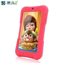 """D'origine iRULU Y3 7 """"BabyPad Pour Enfants G 1280*800 IPS Quad Core Android 5.1 Tablet PC pour les Enfants 1G 16G Silicone Cas Cadeau(China (Mainland))"""