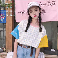 Harajuku Style femmes t-shirt printemps été mode impression à manches courtes O cou coton femmes hauts décontracté lâche t-shirt Femme