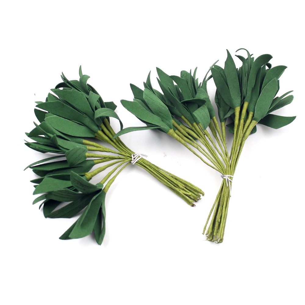 20pcs/lot 14cm Foam Artificial leaves Bunch Free Shipping For Party Home Decoration Diy Scrapbooking Festival Cheap Fake Flower