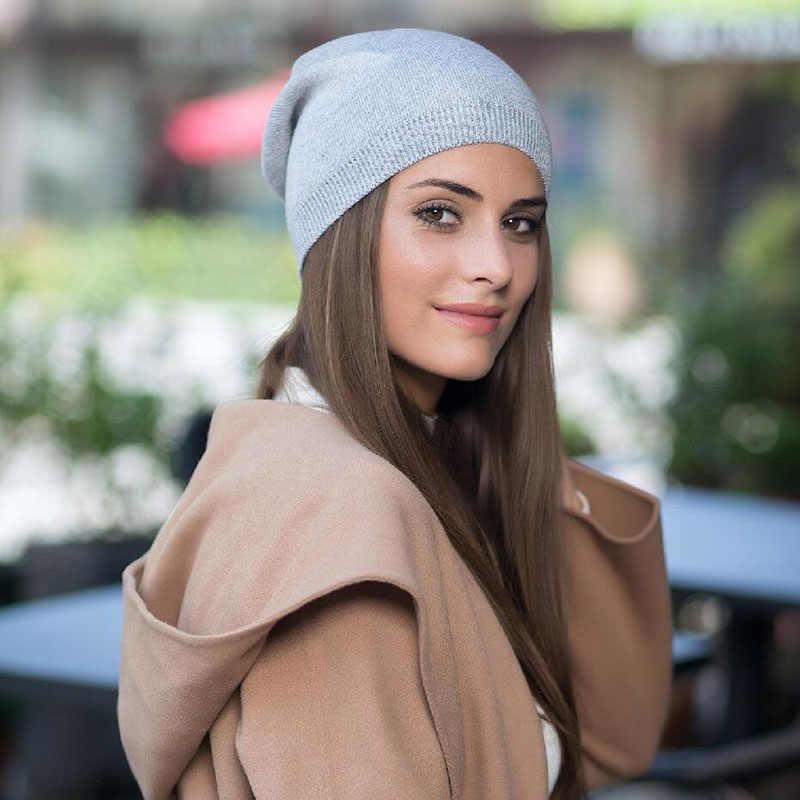 BINGYUANHAOXUAN Cappello di Inverno delle Donne di Lana Lavorato A Maglia Beanie Donna Skullies Moda Casual All'aperto Maschera Sci Cappelli Cappelli Caldi per Le Donne