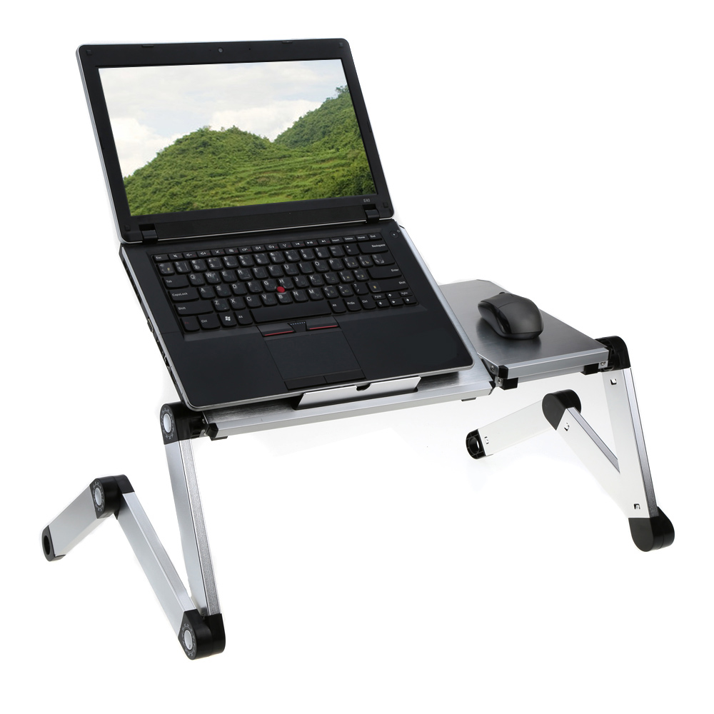 Portable folding laptop notebook table desk adjustable laptop stand - Adjustable Portable Laptop Folding Table Desk Tray Stand With Splitting Surface For 17 Inch Laptop Notebook
