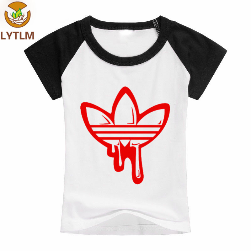 LYTLM 2018 New Fashion Top Funny T-shirt Cotton Short Sleeve Children Kids T-shirts Boys Girls Tshirts Baby Girls Clothes Infant