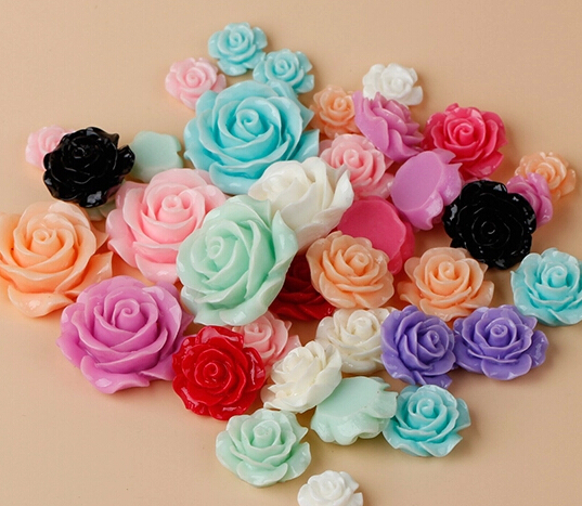 Cheap Price 20pcs Mixed Color Multi-size Resin Rose Flower Stickers Drill Diy Mobile Phone Shell Material Diy Handmade Accessories Fixing Prices According To Quality Of Products Apparel Sewing & Fabric