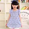 2-6 Year Flower Girl Dresses Summer Cotton Party Kids Clothes Flowers Children's Fashion Brand New Hot Ins Girl Princess Dress