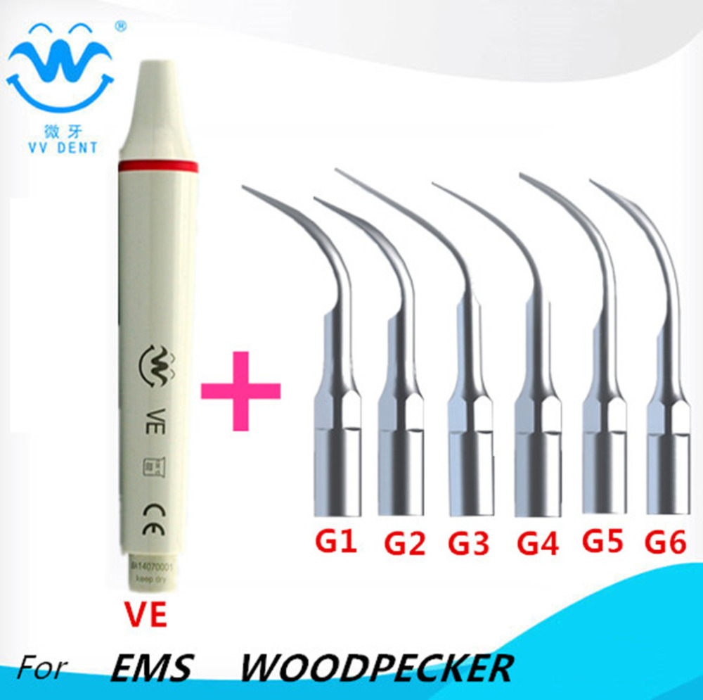 Dental scaler tip supragingival scaling tip handpiece COMPATIBLE WITH EMS, WOODPECKER, HENRY SCEHEIN E-SERIES SCALER