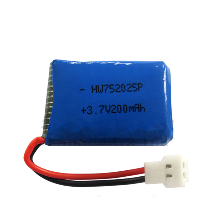 10pcs/lot <font><b>3.7V</b></font> <font><b>200mAh</b></font> X4 X11 X13 remote control plane aircraft <font><b>battery</b></font> <font><b>3.7V</b></font> <font><b>200mAh</b></font> lithium <font><b>battery</b></font> model aircraft 752025 image