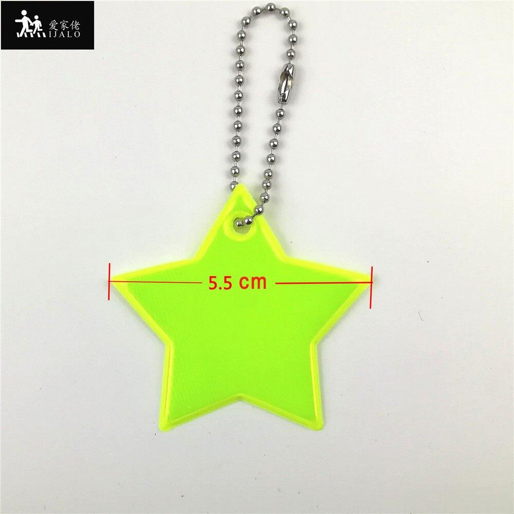 Маленькая звезда сумка брелок милый мягкий ПВХ отражающий брелок, подвеска для машины Шарм сумка Аксессуары для безопасности дорожного движения использования