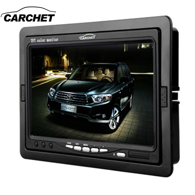 CARCHET 7 inch TFT LCD Digital Color Monitor 7 Car Headrest Monitor Screen Car Rear View Monitor Kit For DVD VCD Backup Reverse