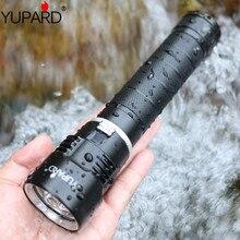 Yupard высокий яркий водонепроницаемый подводный diver3 * XM-L2 светодиодный T6 светодиодный Белый свет фонарик желтый свет лампа, торшер