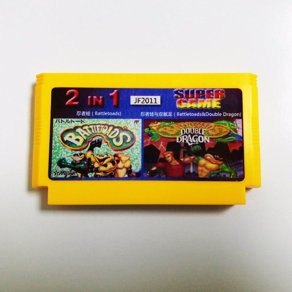 Battletoads/Battletoads&Double Dragon 2in1 Big Yellow 8 bit 60 pins Game CardBattletoads/Battletoads&Double Dragon 2in1 Big Yellow 8 bit 60 pins Game Card
