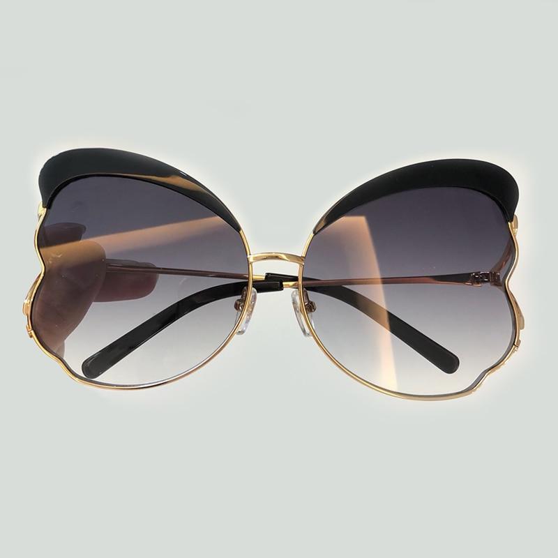 Lunettes de soleil papillon de luxe femmes conception de marque de mode 2018 Vintage surdimensionné lunettes de soleil dégradé de haute qualité lunettes de soleil femmes