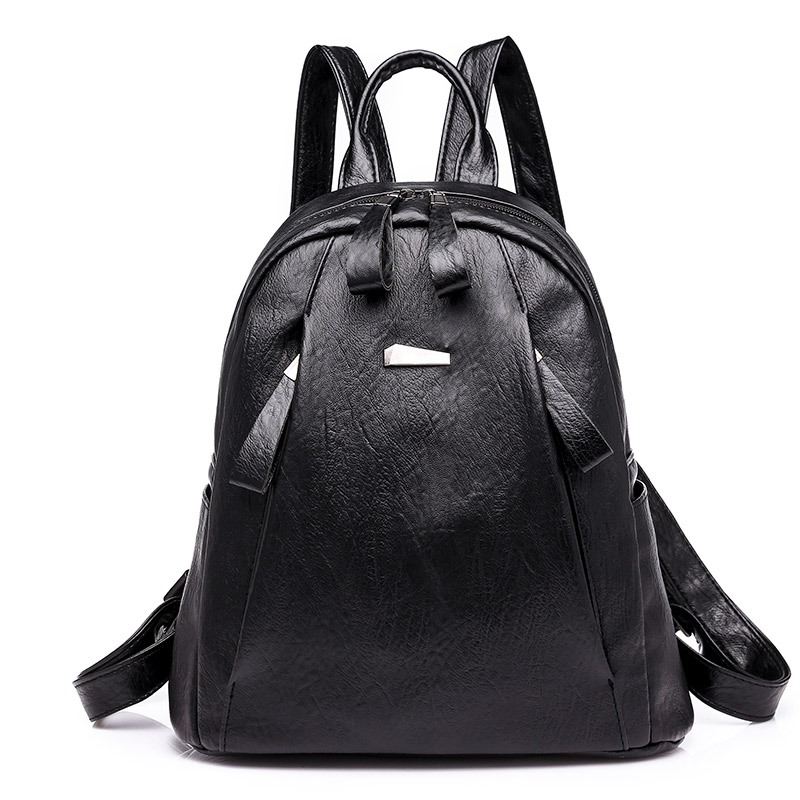 High Quality PU Leather Women Backpack Fashion Soft School Bags for Teenager Girls Large Capacity Casual Women Backpacks 6892 high quality pu leather women backpack fashion solid school bags for teenager girls large capacity casual women black backpack l