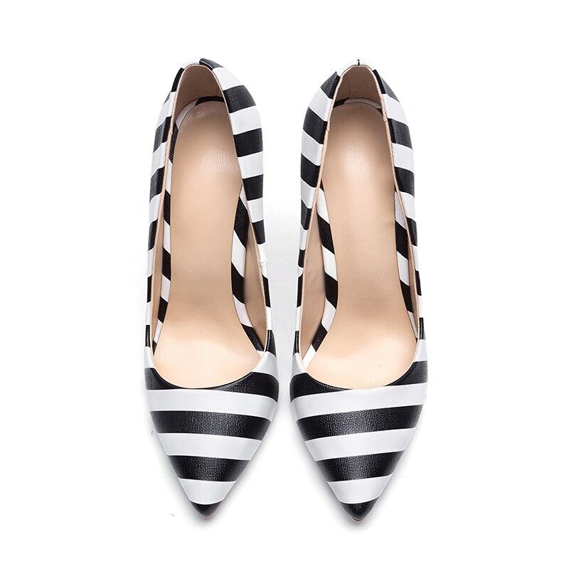 Haute Talons Wetkiss Femmes Pompes Taille Mode Chaussures 45 Peu Dames De Bout Bande Grande Mince Automne Partie Profonde 2018 Noir Nouvelle Pointu nx8Y50Xr8