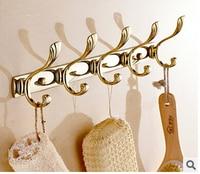 Europe style gold finished bathroom robe hooks,coat racks,clothes hooks bathroom hardware accessories kitchen hangers