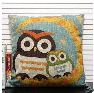 Berwarna Menggambar Kartun Owl Ibu Dan Burung Hantu Bayi Di Bulan