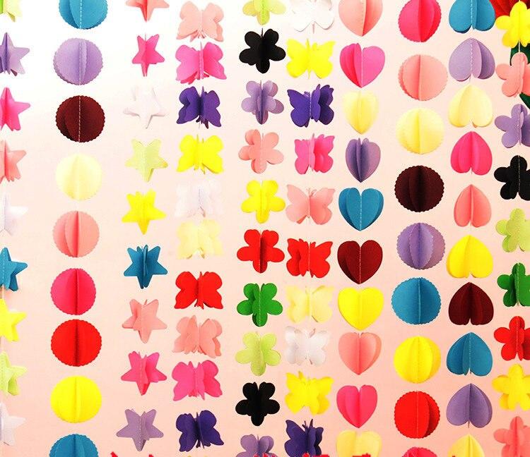 5 estilos de fondo partido decoraci n de la boda colorida - Decoracion con cintas de papel ...