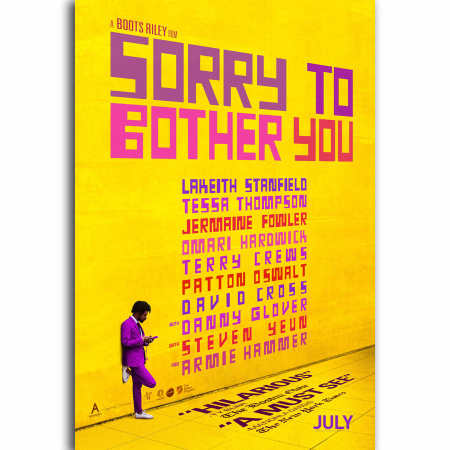 G3547 Sorry To Bother You New Movie Boots Riley Film A4 Art Silk ...