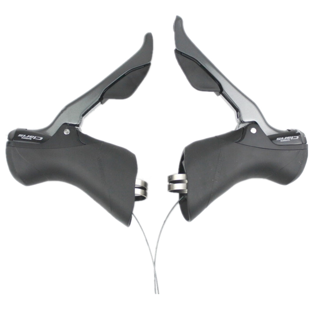 Shimano Road Claris ST R2000 Shifter Lever Set 2x8 Speed R2000 STI Gear Levers Left Right